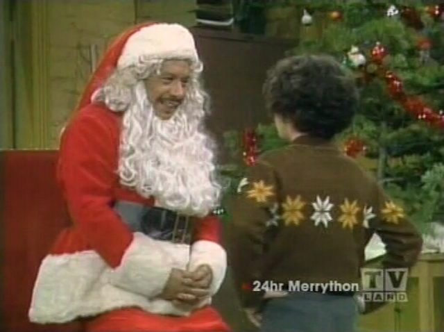 George Jefferson as Santa
