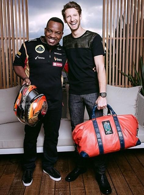 With Romain Grosjean