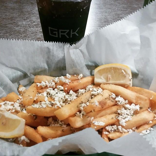 greek fries  at greek kitchen