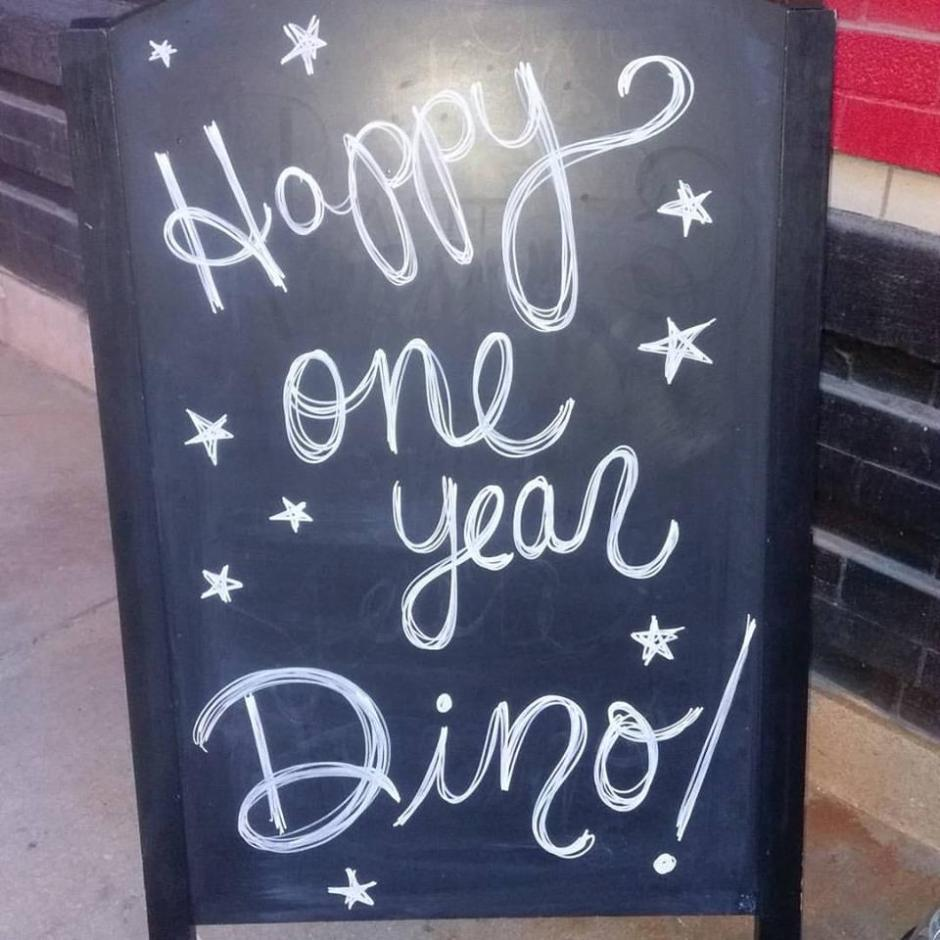 one year sign