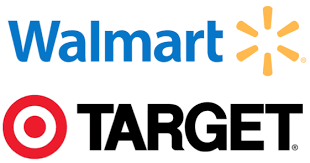 target and walmart